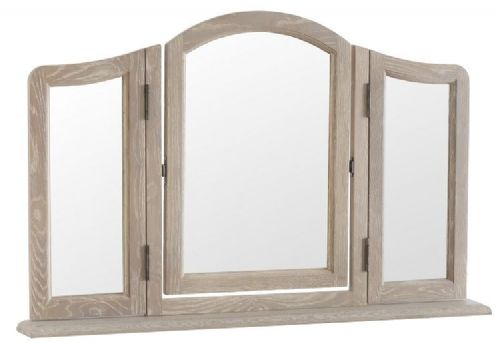 French Oak Dressing Table Mirror